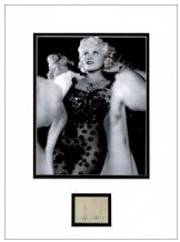 Mae West Autograph Signed